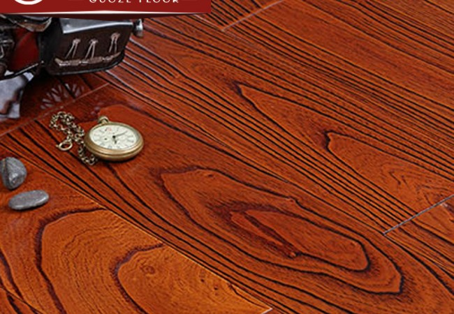 多层实木地板 楝木浮雕5501