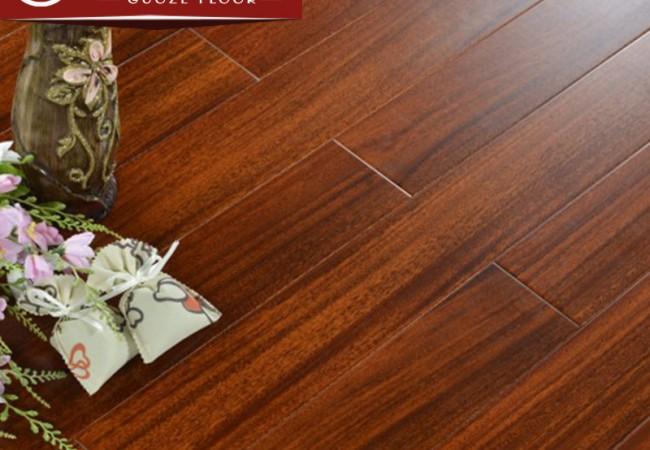 平面实木地板 圆盘豆本色