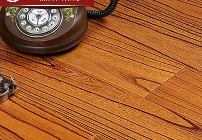 多层实木地板 楝木浮雕5502