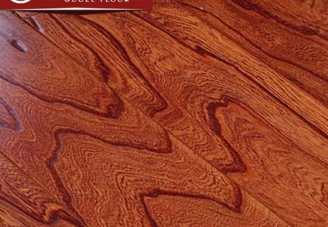 多层实木地板 榆木浮雕8812