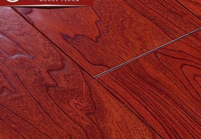多层实木地板 榆木浮雕8811