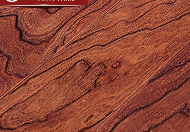多层实木地板 榆木浮雕8801