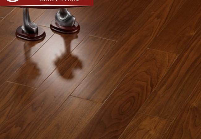 平面多层实木地板 黑胡桃哑光8009