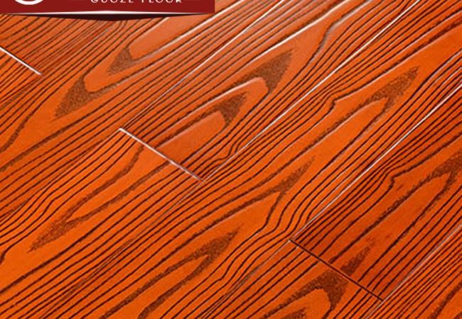 番龙眼仿古实木地板 桔红色GZ-311
