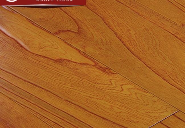 多层实木地板 榆木浮雕8813