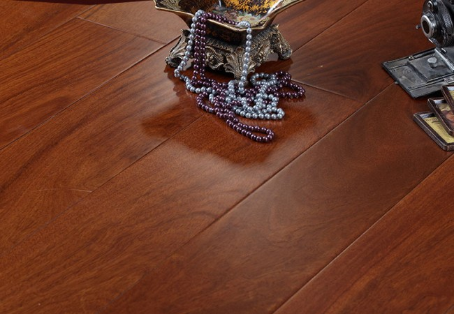 新三层实木锁扣地板 西非苏木SP86