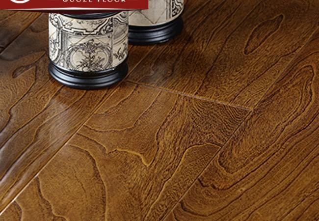 多层实木地板 榆木浮雕8832