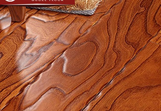 多层实木地板 榆木浮雕8808