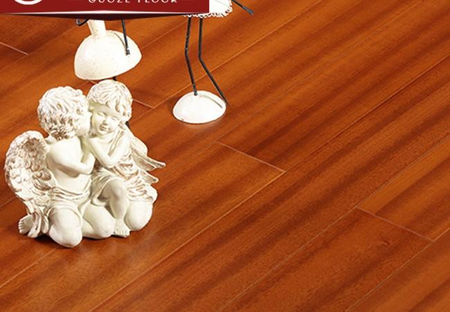 平面多层实木地板 纽墩豆哑光8010