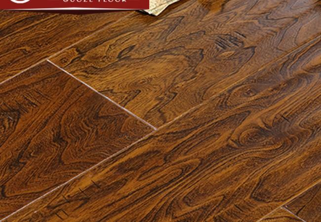 多层实木地板 榆木浮雕8821