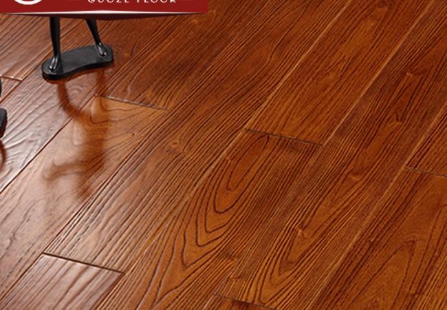 仿古多层实木地板 刺槐柚木色7701