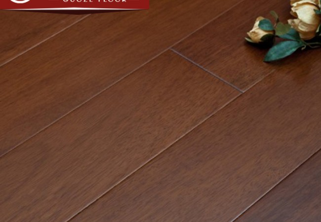 平面实木地板 番龙眼柚木色
