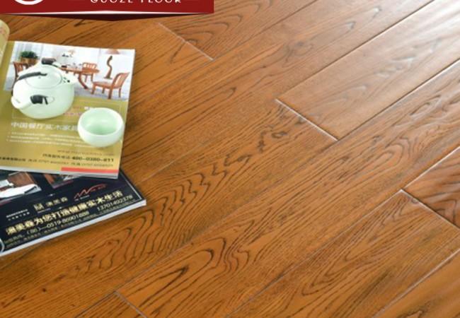 仿古实木地板,橡木(柚木色)
