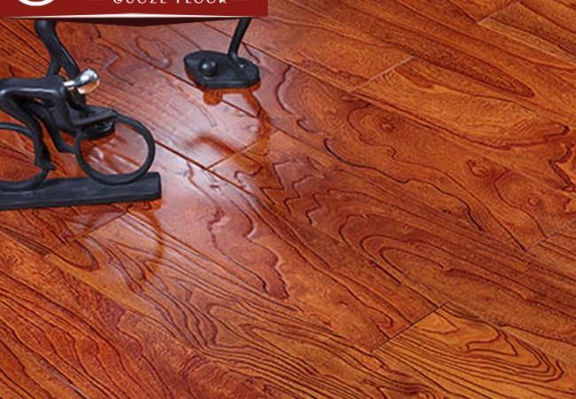 多层实木地板 榆木浮雕8802