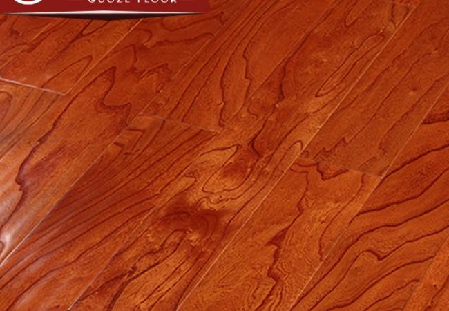 多层实木地板 榆木浮雕8805