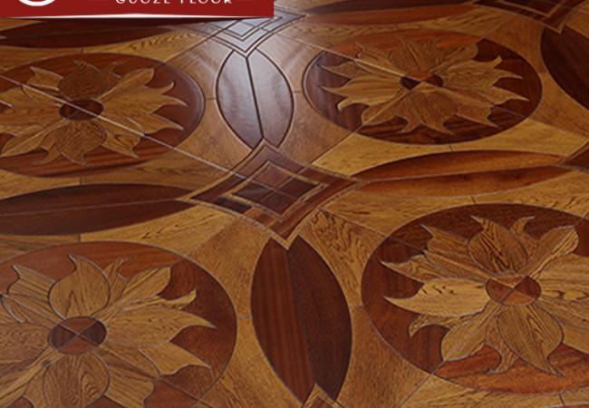 多层拼花实木地板—荷塘月色