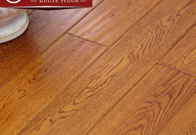 多层实木地板 锁扣橡木手抓纹2232